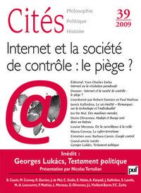 CITES 2009, N  39 - INTERNET ET SOCIETE DE CONTROLE : LE PIEGE ?