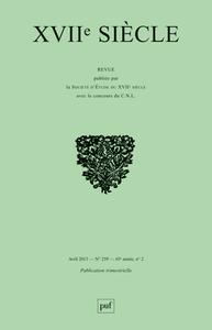 XVIIE SIECLE 2013, N  259 - ARNAULD, THOMAS D'AQUIN ET LES THOMISTES