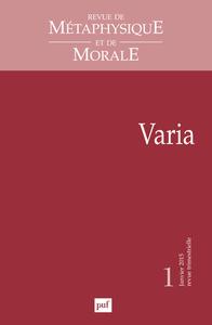 RMM 2015, N  1 - VARIA