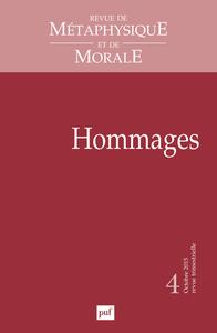 RMM 2015, N  4 - HOMMAGES A VICTOR DELBOS ET JACQUES D'HONDT