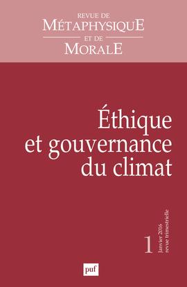 RMM 2016, N  1 - ETHIQUE ET GOUVERNANCE DU CLIMAT