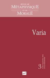 RMM 2016, N  3 - VARIA