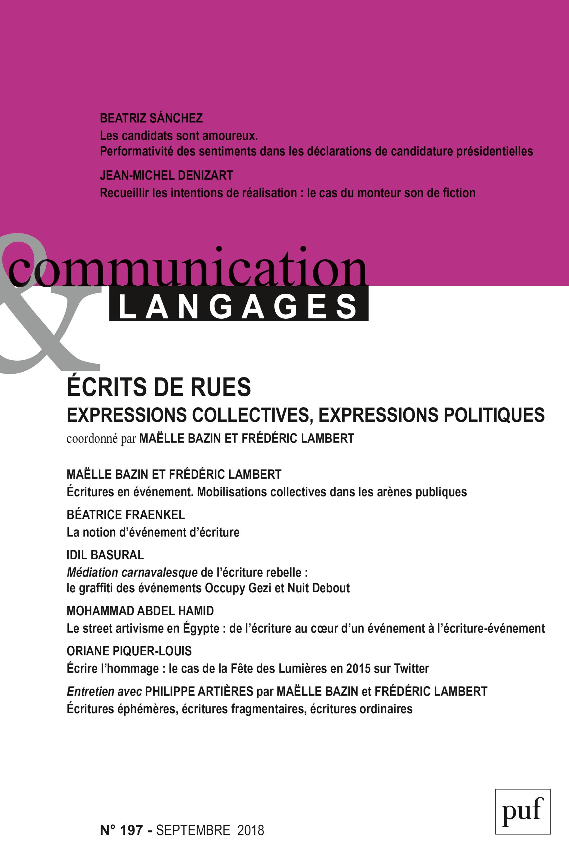 COMMUNICATION & LANGAGES- 2018 - 197