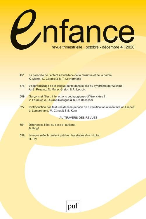 ENFANCE 2020, N.72(4)