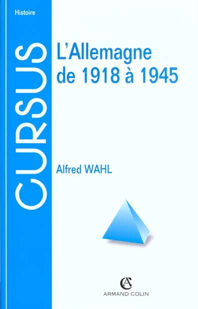 ALLEMAGNE DE 1918 A 1945 2ED