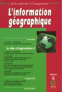 L'INFORMATION GEOGRAPHIQUE VOL 68 2/2004