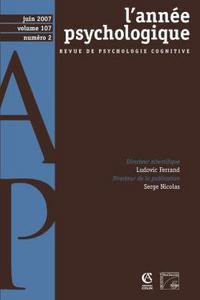ANNEE PSYCHOLOGIQUE, VOL. 107 - 2/2007