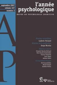 L'ANNEE PSYCHOLOGIQUE - VOL. 107 (3/2007)