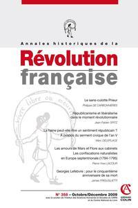 ANNALES HISTORIQUES DE LA REVOLUTION FRANCAISE N  358 (4/2009)