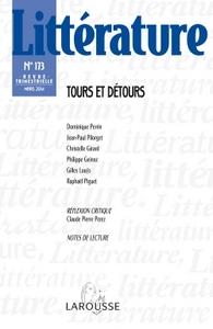 LITTERATURE N  173 (1/2014) TOURS ET DETOURS