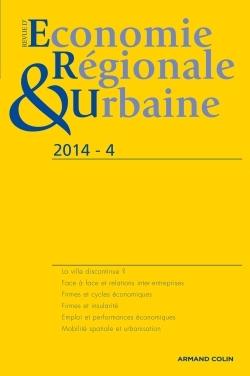 REVUE D'ECONOMIE REGIONALE & URBAINE (4/2014) VARIA
