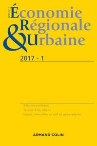REVUE D'ECONOMIE REGIONALE ET URBAINE N  1/2017 VARIA