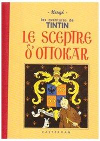 TINTIN - T08 - LE SCEPTRE D'OTTOKAR - GRAND FORMAT, FAC-SIMILE DE L'EDITION DE 1942 EN NOIR ET BLANC