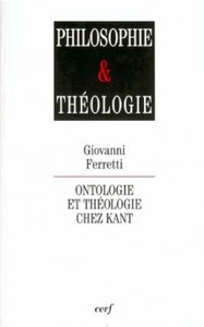 ONTOLOGIE ET THEOLOGIE CHEZ KANT