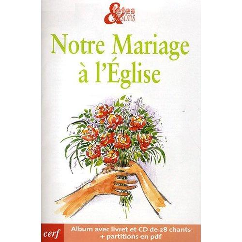 PACK DE 10 NOTRE MARIAGE A L EGLISE NED