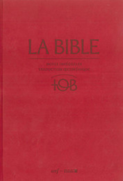 LA BIBLE - TRADUCTION OECUMENIQUE - NOTES INTEGRALES, RELIURE RIGIDE SATIN MAT GRENAT SOUS ETUI