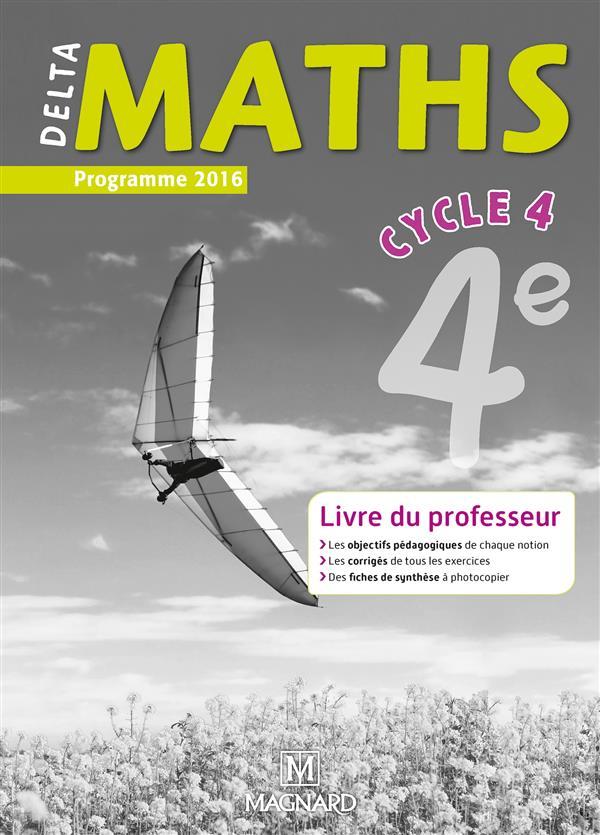 4E DELTA MATHS LIVRE DU PROFESSEUR CYCLE 4