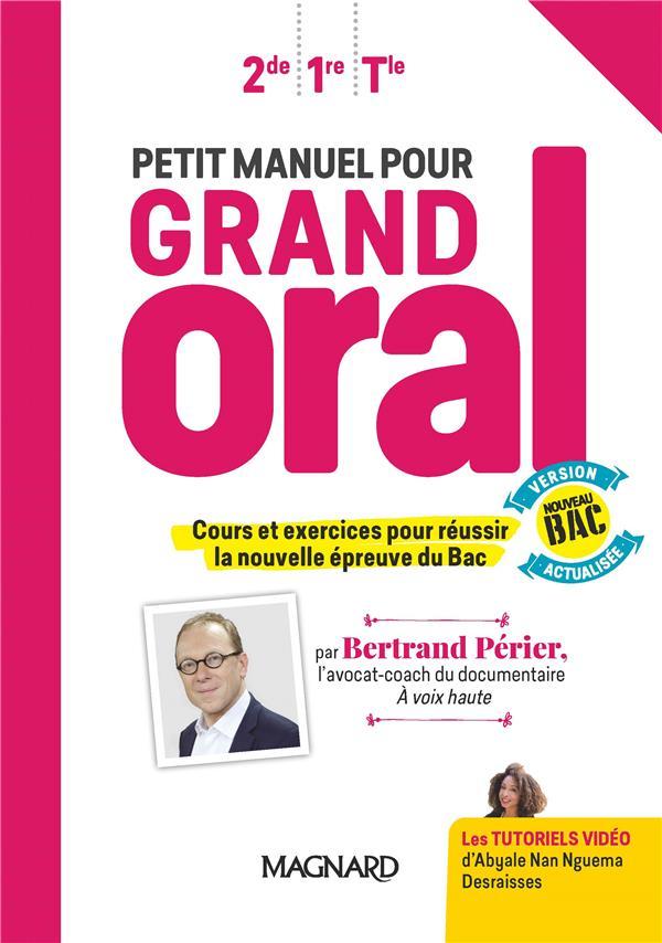 Petit manuel pour grand oral (2020) - manuel eleve