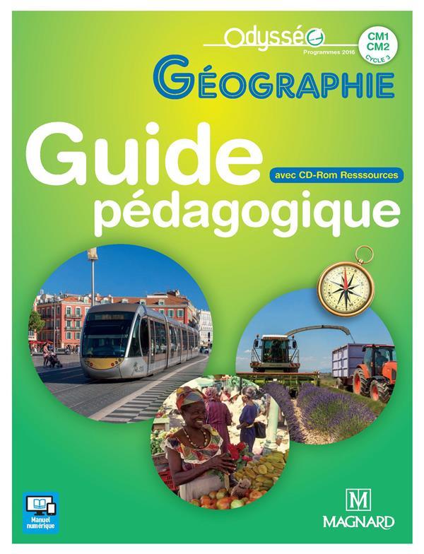 Odysseo geographie cm1-cm2 (2017) - banque de ressources sur cd-rom avec guide