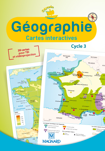 CD ROM CARTES INTERACTIVES GEOGRAPHIE CYCLE 3