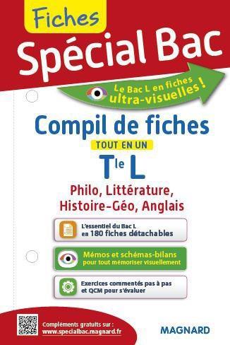 2016 SPECIAL BAC COMPIL DE FICHES TERM L