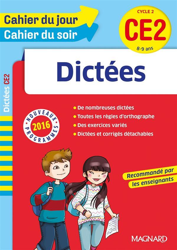CAHIER DU JOUR / CAHIER DU SOIR - DICTEES CE2