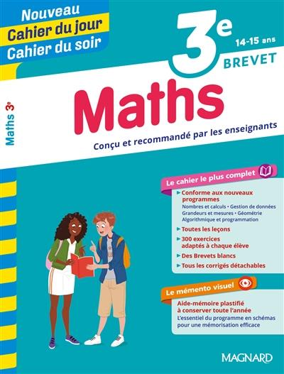 CAHIER DU JOUR / CAHIER DU SOIR - MATHS 3E