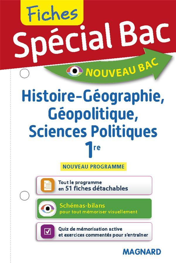 Special bac fiches histoire-geo, geopolitique, sciences po 1re - tout le programme en 157 fiches, me