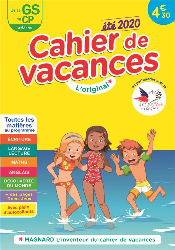 CAHIER DE VACANCES 2020, DE LA GS VERS LE CP 5-6 ANS