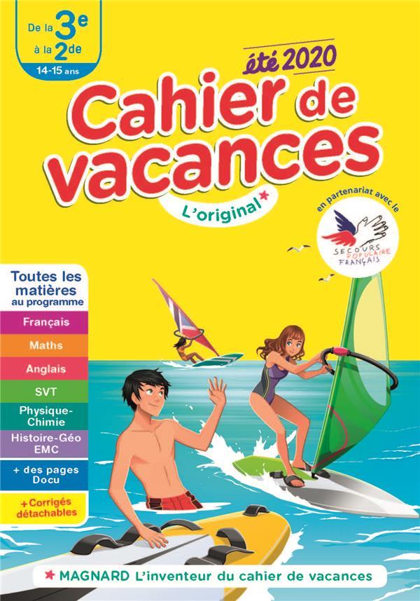 CAHIER DE VACANCES ETE 2020 DE LA 3E A LA 2DE 14-15 ANS