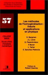 LES METHODES DE L'HOMOGENEISATION