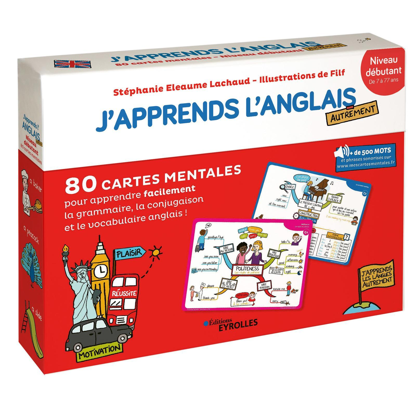 J'APPRENDS L'ANGLAIS AUTREMENT - NIVEAU DEBUTANT - 80 CARTES MENTALES POUR APPRENDRE FACILEMENT LE V