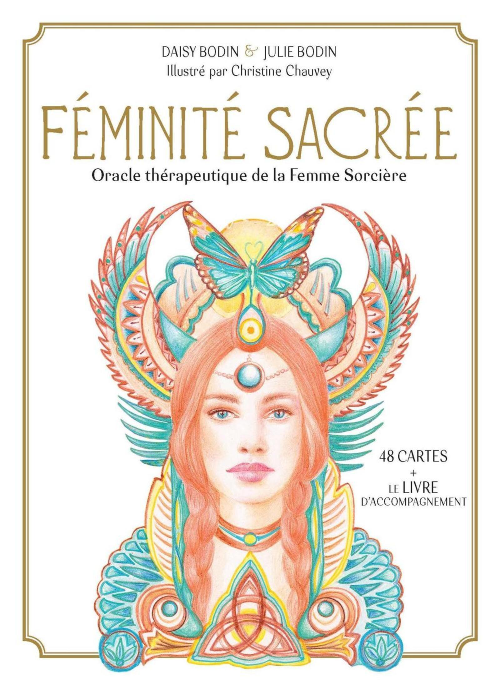 FEMINITE SACREE - ORACLE THERAPEUTIQUE DE LA FEMME SORCIERE. 48 CARTES ORACLE ET LE LIVRE D'ACCOMPAG