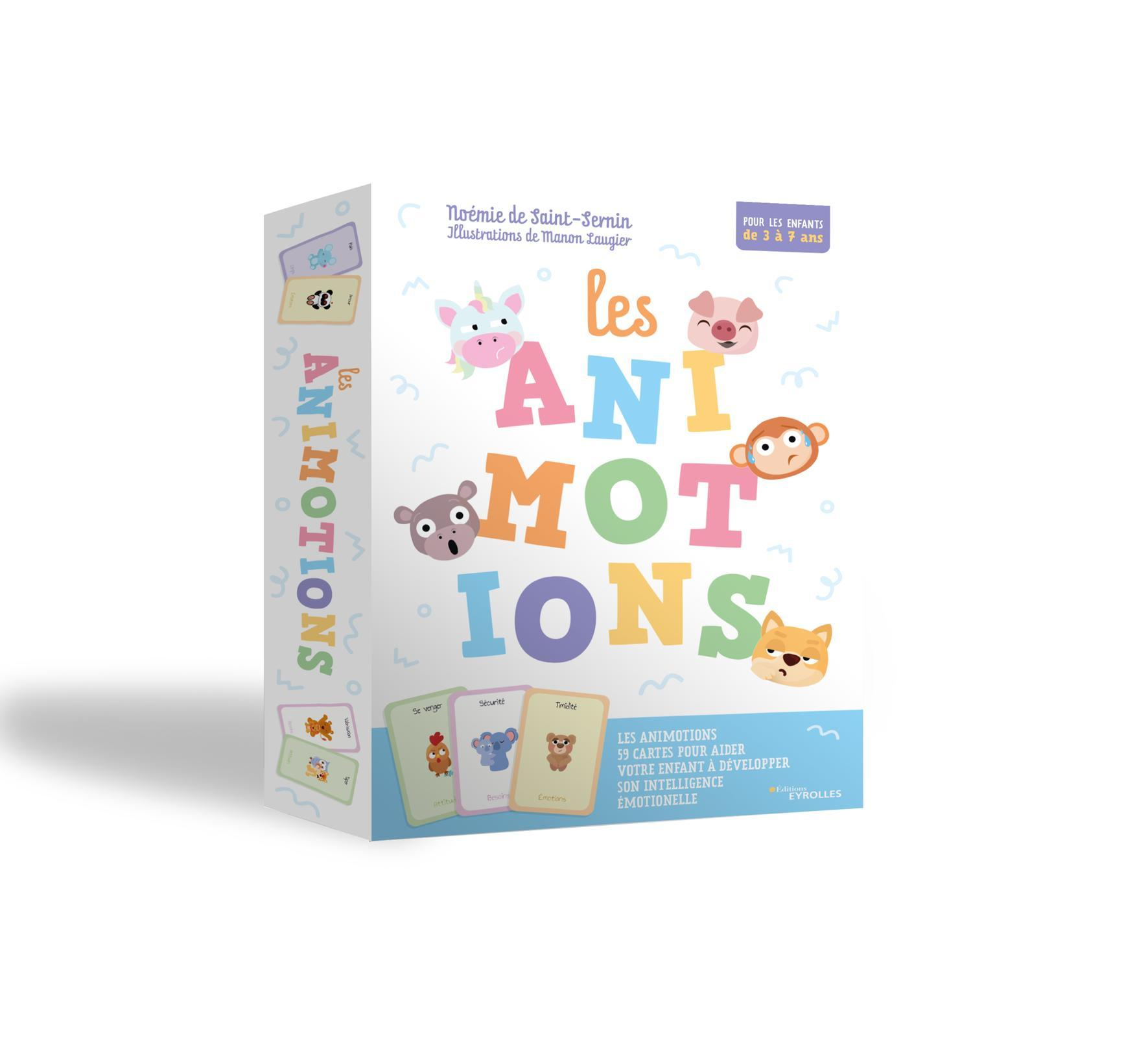 LES ANIMOTIONS - 59 CARTES POUR AIDER VOTRE ENFANT A DEVELOPPER SON INTELLIGENCE EMOTIONNELLE