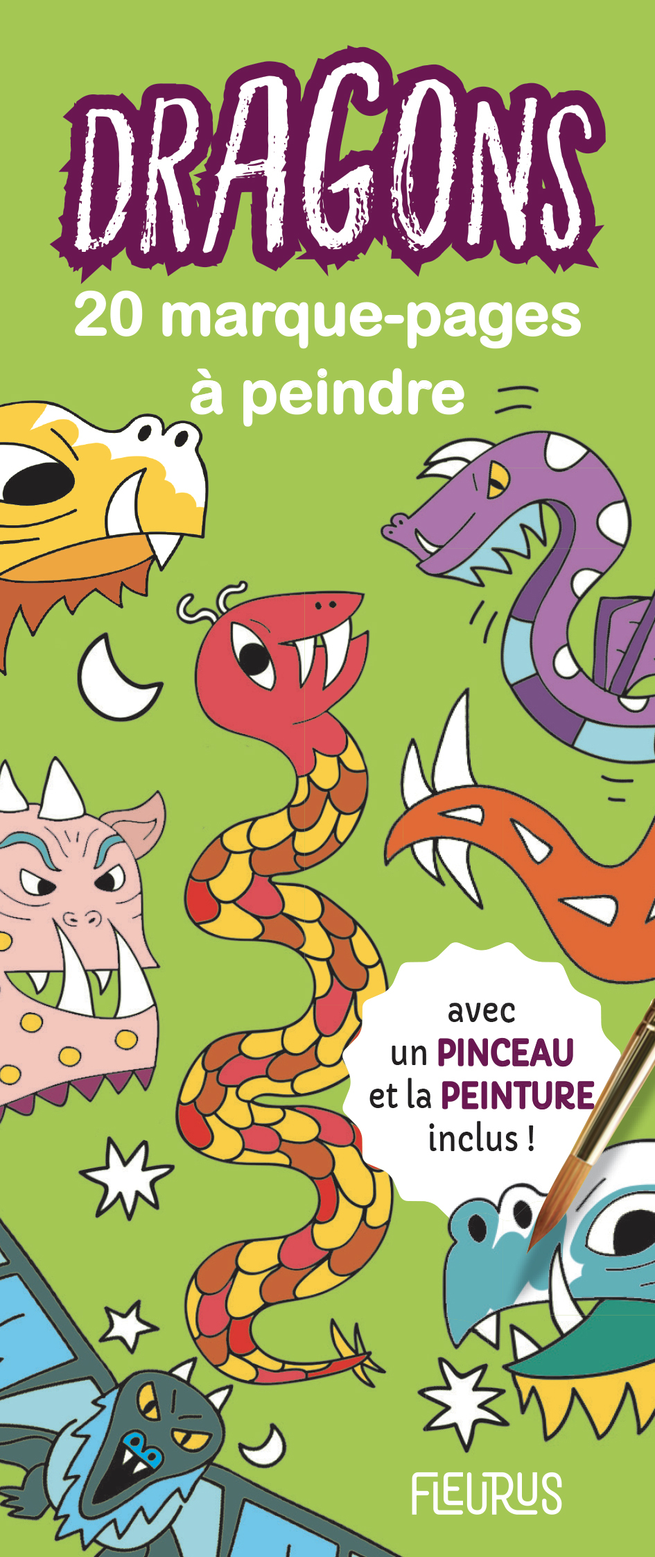 MARQUE-PAGES A PEINDRE - DRAGONS