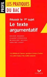 PROFIL - LE TEXTE ARGUMENTATIF