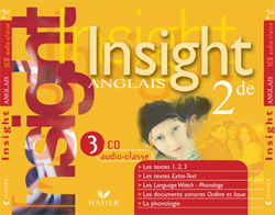 INSIGHT ANGLAIS 2DE ED 2005 - 3 CD AUDIO CLASSE