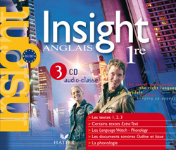 INSIGHT ANGLAIS 1RE ED 2007 - 3 CD AUDIO-CLASSE