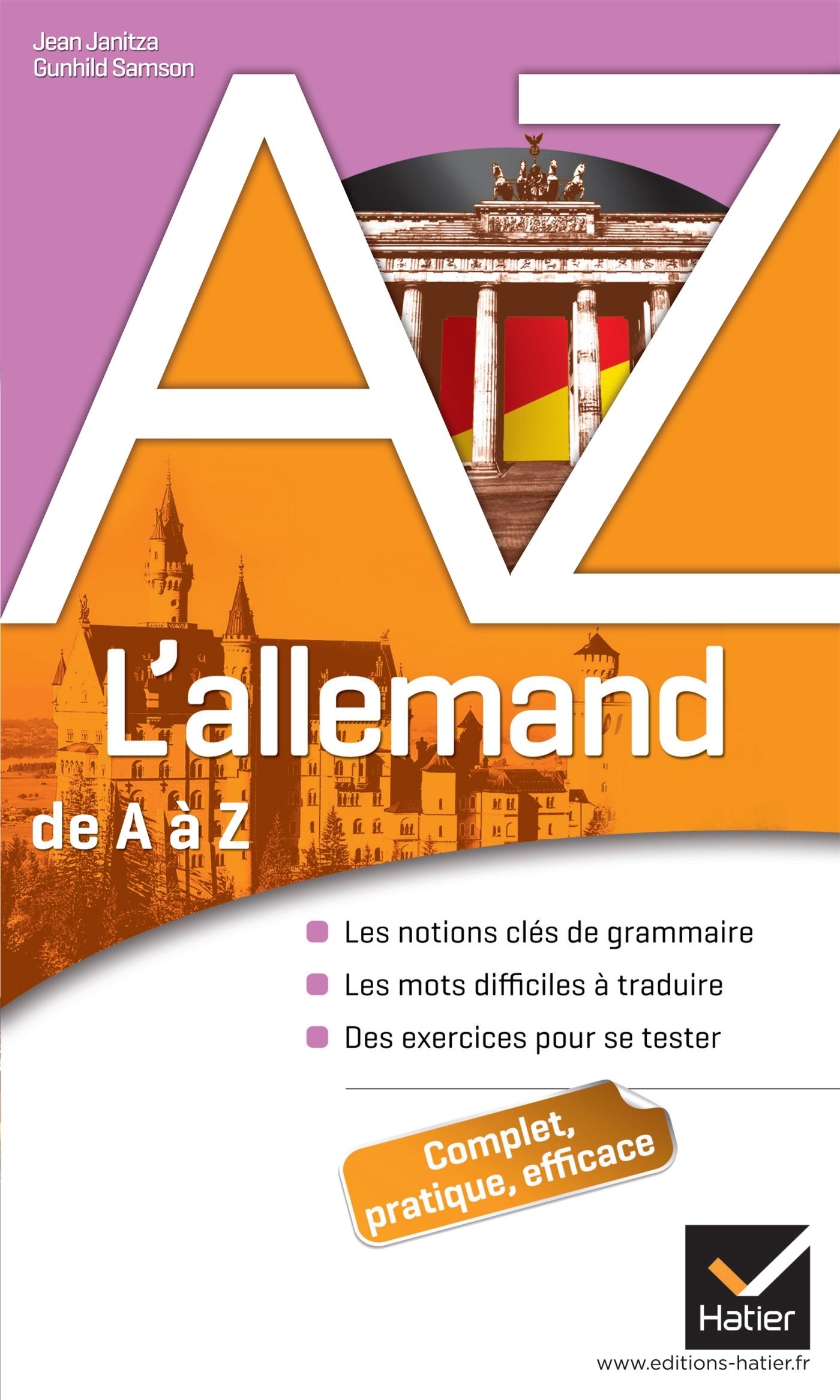 L'ALLEMAND DE A A Z - GRAMMAIRE, CONJUGAISON ET DIFFICULTES