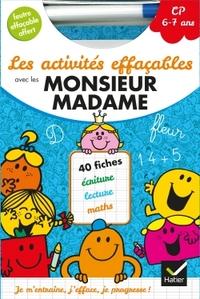 LES ACTIVITES EFFACABLES AVEC LES MONSIEUR MADAME CP