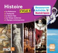 HISTOIRE CYCLE 3 - RESSOURCES& ACTIVITES NUMERIQUES - CLE USB