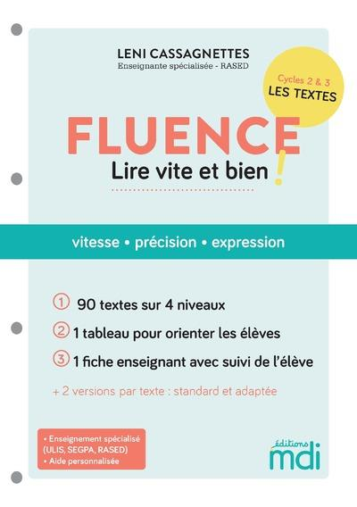 Mdi - fluence - 90 textes pour lire vite et bien !