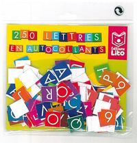 250 LETTRES EN AUTOCOLLANTS (AVEC SUPPORT)