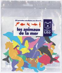 150 GOMMETTES LES ANIMAUX DE LA MER (SANS SUPPORT)