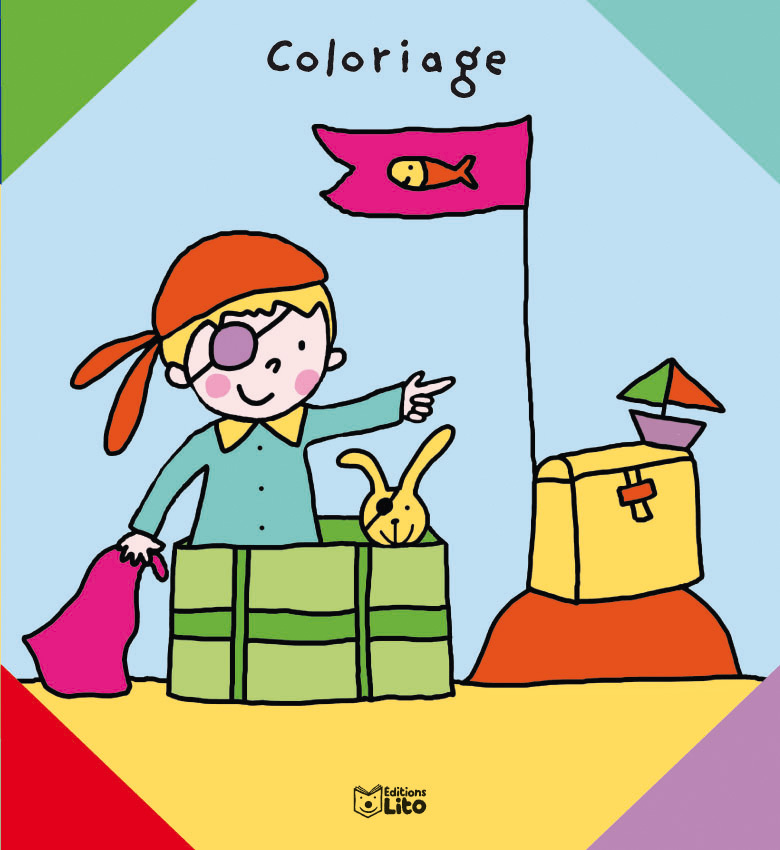 COLORIAGE LE TRESOR DU PETIT PIRATE