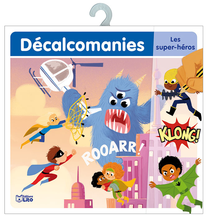 DECALCOMANIES SUPER HEROS