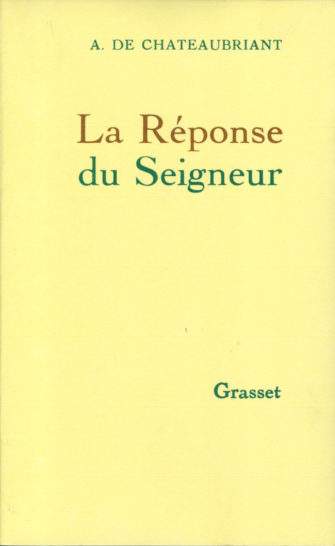 LA REPONSE DU SEIGNEUR