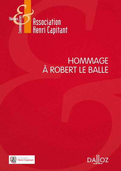 HOMMAGE A ROBERT LE BALLE - 1RE EDITION