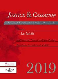 JUSTICE ET CASSATION 2019. LA LAICITE