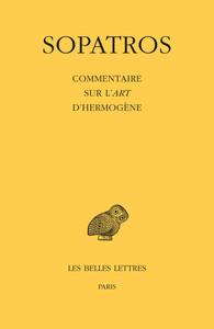COMMENTAIRE SUR L'ART D'HERMOGENE